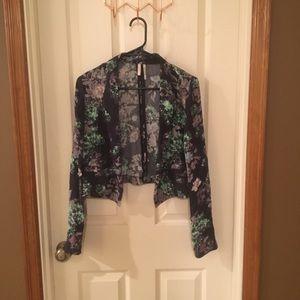 Floral Cropped Blazer (Size M)